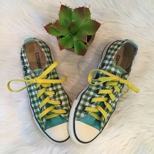 "Converse All Star Plaid ""Dream On"" Sneakers, 5"